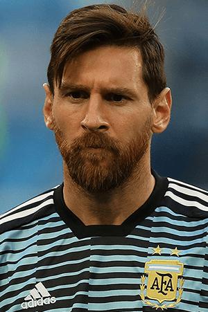 Lionel Messi met Argentinië