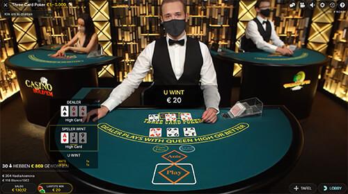 Three Card Poker live