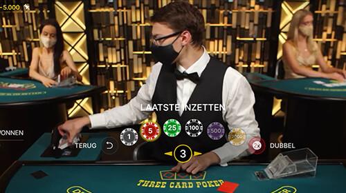Three Card Poker Inzet